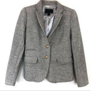 J. Crew Herringbone Wool Schoolboy Blazer